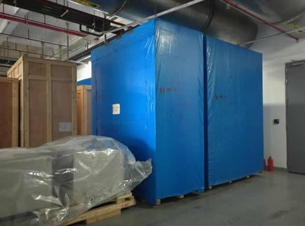 防水防尘包装应用案例:聚乙烯雨布木箱外包装